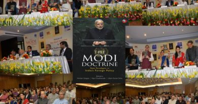 "Book Launch of ""THE MODI DOCTRINE- New Paradigms in India's Foreign Policy by Smt. Sushma Swaraj (Hon'ble Minister for External Affairs, India) at India International Centre, New Delhi"