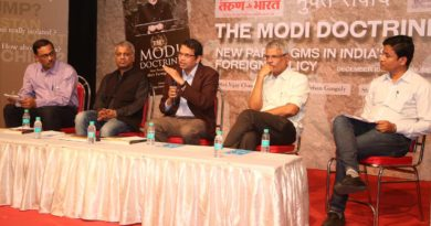 "Discussion on ""The Modi Doctrine: New Paradigms in India's Foreign Policy""  at Sathaye College, Vileparie (E), Mumbai"