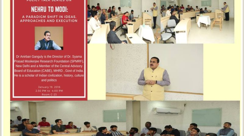 Policy Talk on Nehru to Modi: A Paradigm Shift in Ideas, Approaches and Execution at IIM Bangalore on 19th January, 2017