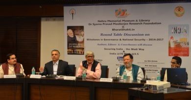 "SPMRF, NMML & BharatShakti.in organised a Round Table Discussion on ""Milestones in Governance & National Security – 2014-2017"" on 16th October2017"